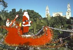 Santa Claus in Merida, Mexico