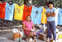 Tee shirt vendors, Chichen Itza, Mexico