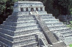 Temple of the Inscriptions, Mayan site of Palenque, Mexico