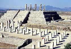 Pyramid of the Warriors, Toltec site of Tula, Mexico