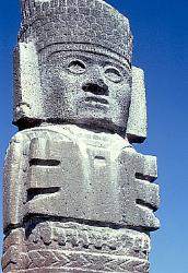 Warrior statue, Toltec site of Tula, Mexico