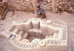 Early Christian babtisery, Roman ruins of Sufetula, Tunisia