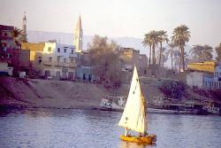 West bank of the Nile at Luxor, Egypt