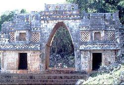 Large Mayan corbelled arch at Labna, Mexico