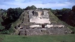 Pyramid at the Mayan site of Altun Ha, Belize