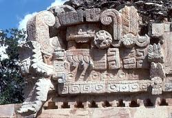 Ritual figures, Mayan site of Sayil, Mexico